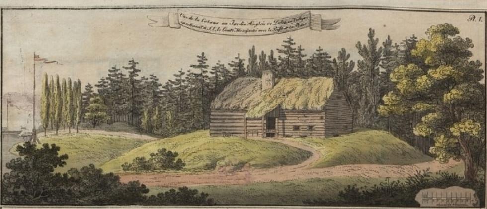 Малюнок «романтичної хати» в Дольську, 1806