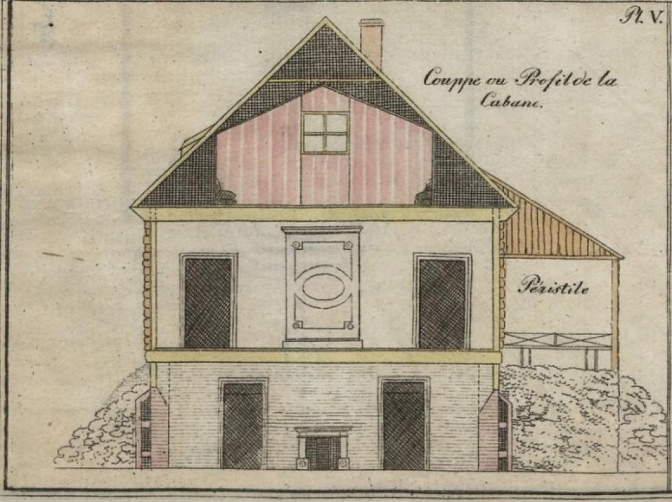 Розріз будівлі, 1806