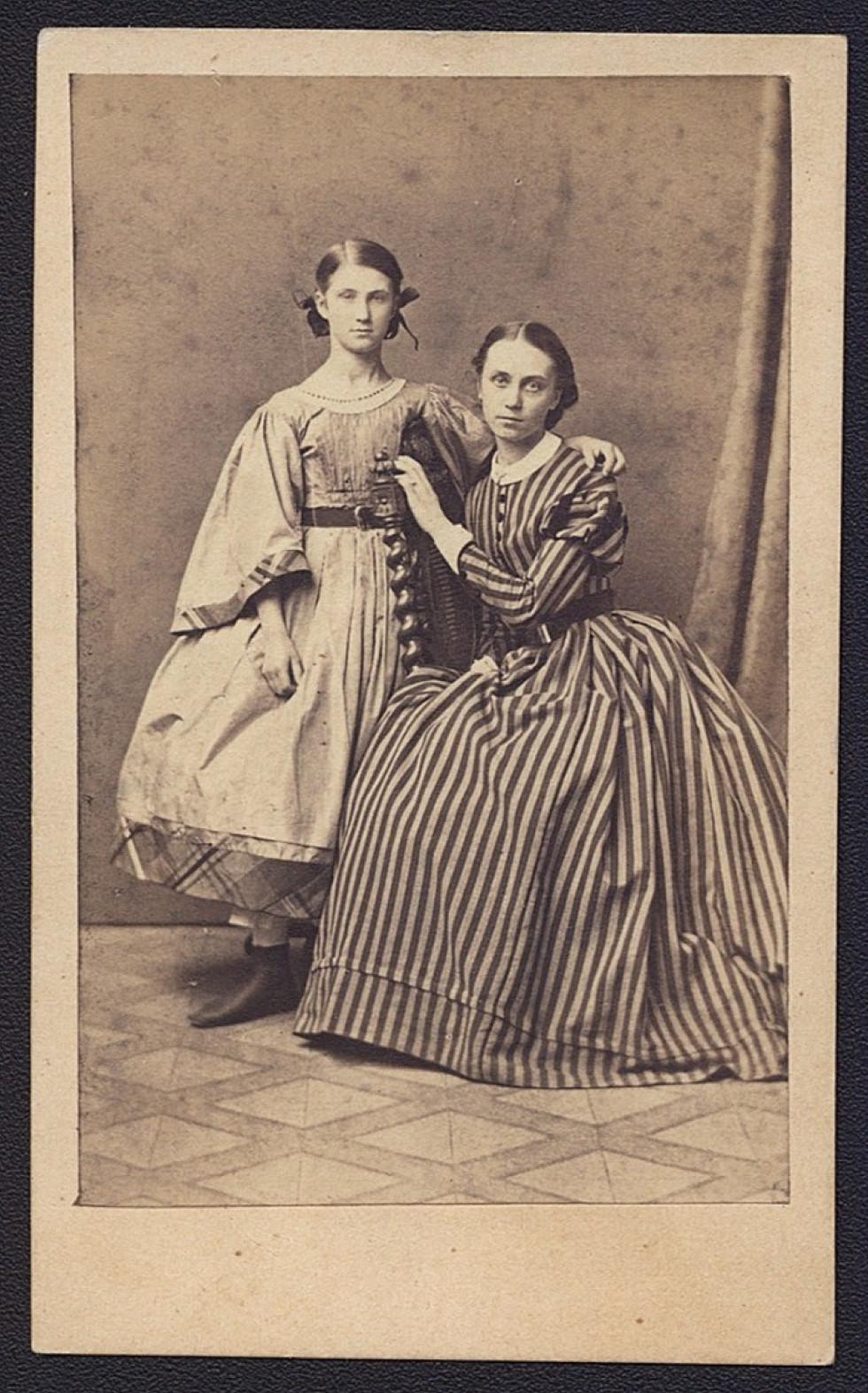 Джозефа Шембек із сестрою Хеленою, 1858