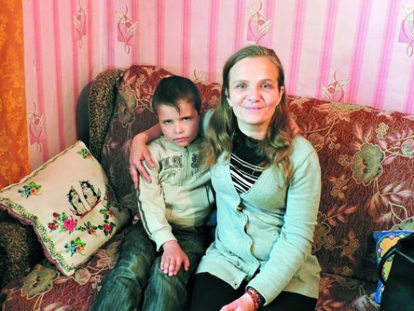 Галина Кліщук із молодшим сином Дмитриком