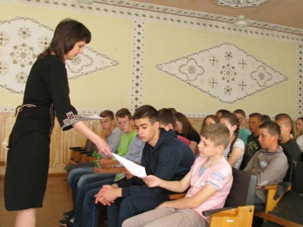 Директор та заступник директора Турійського районного центру зайнятості провели з учнями профінформаційну роботу