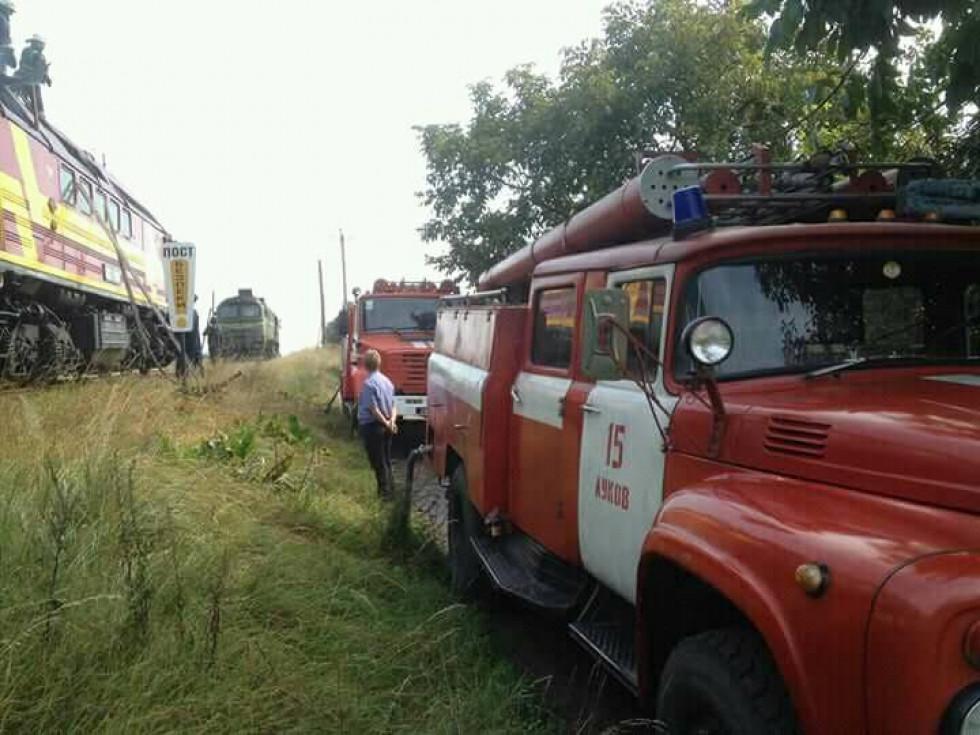 На місці працювали пожежники