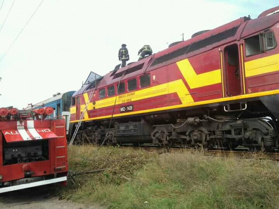 На Турійщині горів потяг