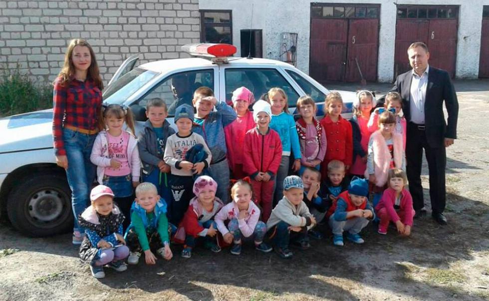 Вихованці ДНЗ побували на екскурсії  у поліції