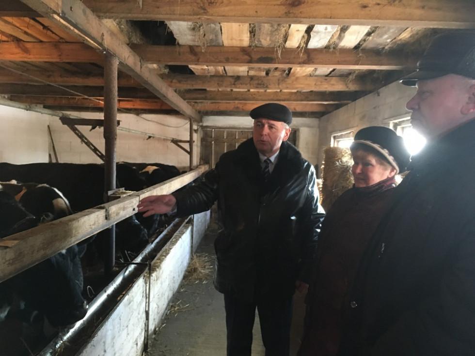 Директор департаменту агропромислового розвитку облдержадміністрації Юрій Горбенко відвідав  (ОСГ) Тамари Андрейчук