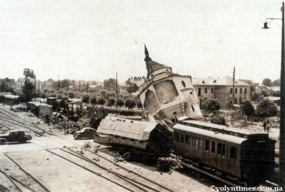 ст. Ковель після німецьких бомбардувань