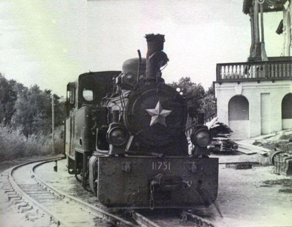 Дитяча залізниця в Луцьку, 1954 рік