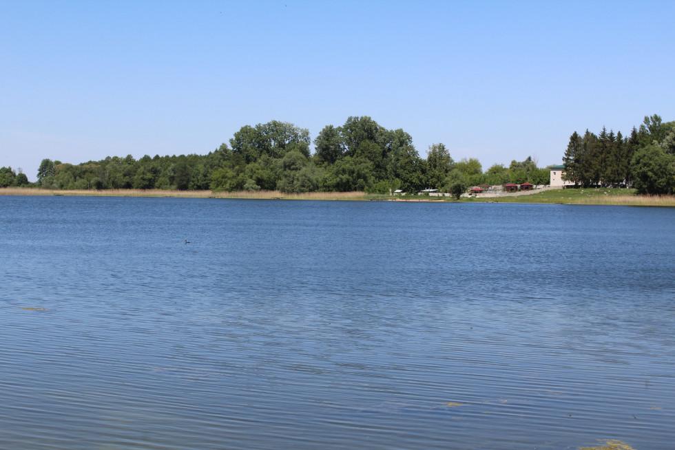 Озеро Дольське знаходиться просто через дорогу від садиби