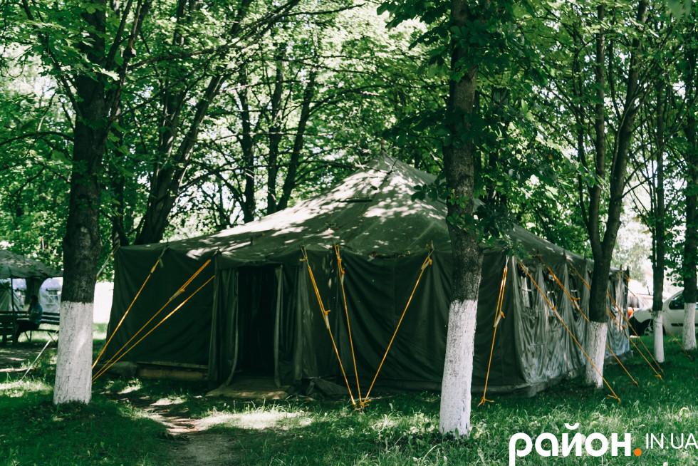 Сортувальна палатка для прийому хворих на коронавірус